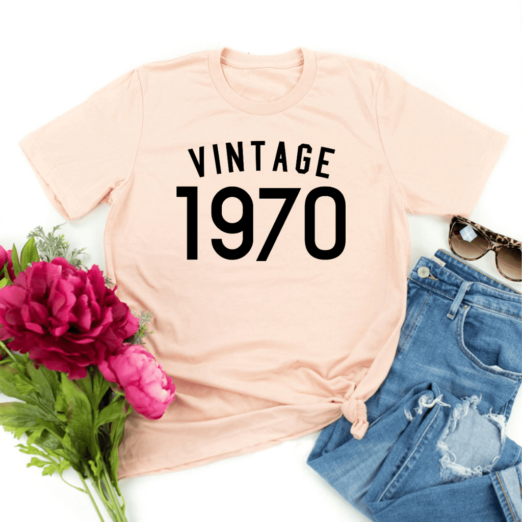 51st Birthday Gift For Women  Men, 51st Birthday Shirt , Vintage 1970 T-Shirt