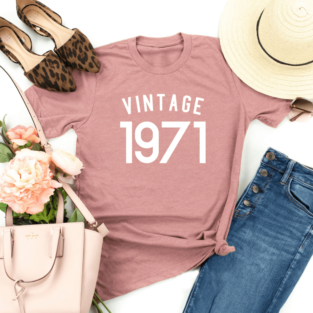 50th Birthday Shirt Gift Ideas Vintage 1971 Birthday Shirt