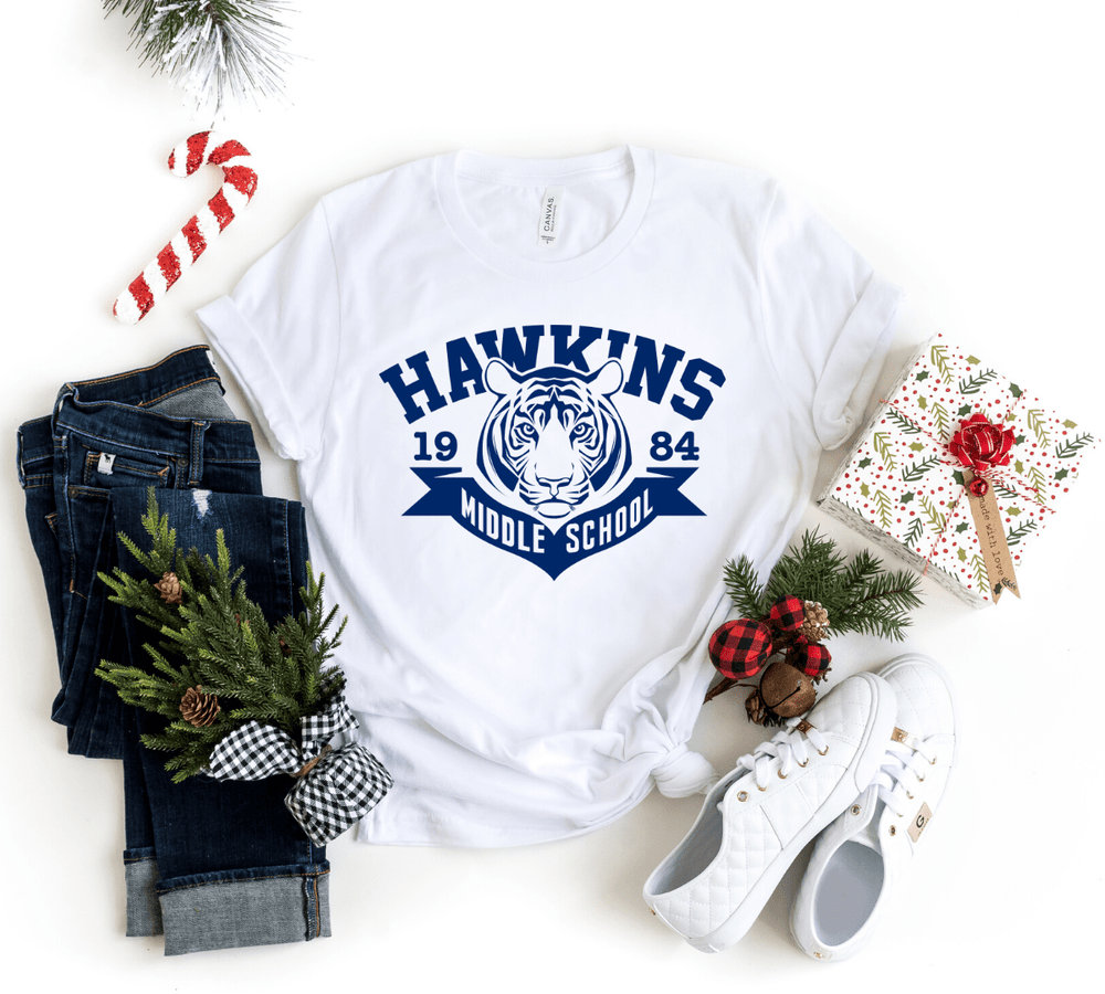 Hawkins Middle School, Stranger Things Shirt Inspired, Hawkins Shirt , The Upside Down, Stranger - Funkyappareltees