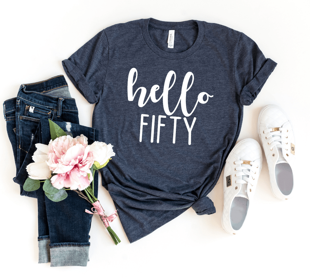 50th Birthday Shirts, Turning 50 Shirts, 50 and fabulous shirt, 50th Birthday Gift For Women  Men,Hello Fifty Shirt, 50th Birthday Gift ideas - Funkyappareltees