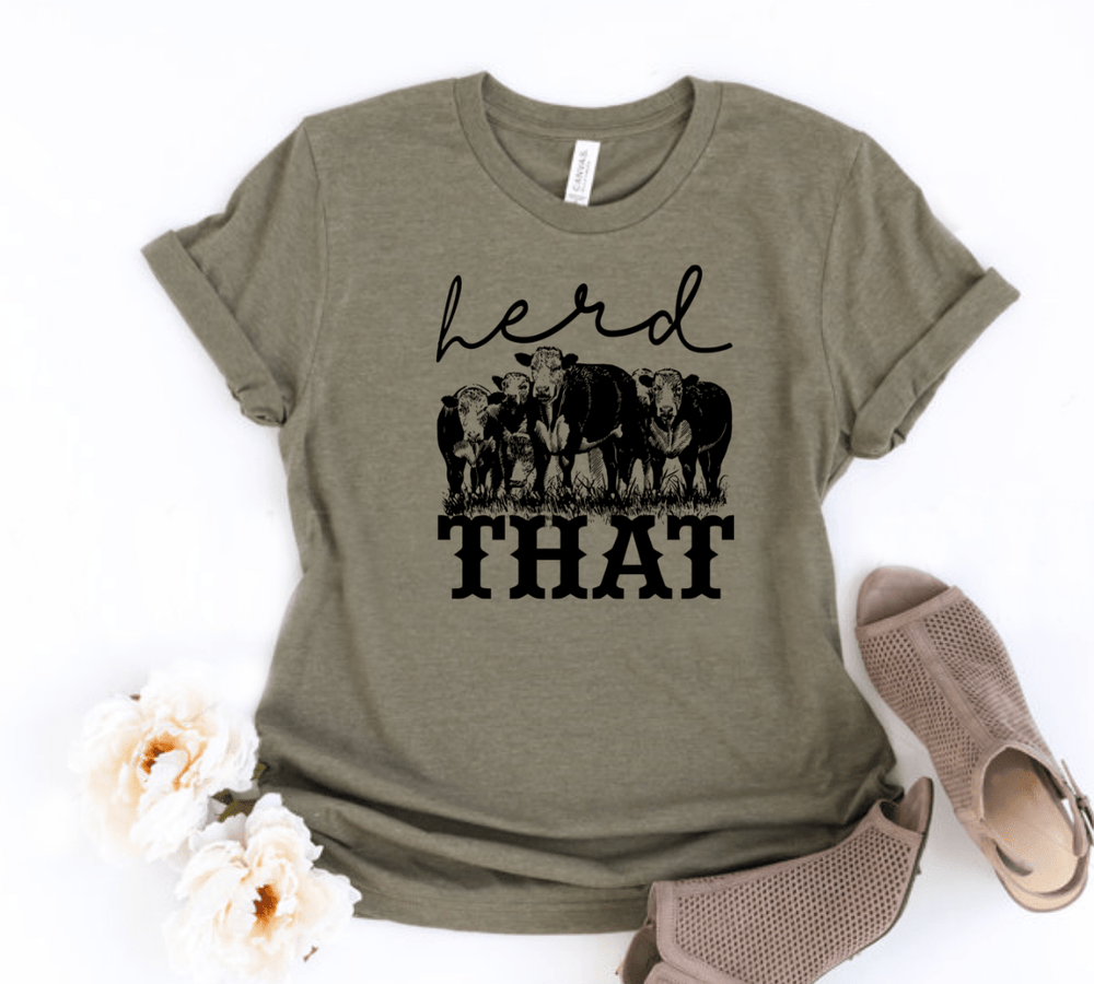 Herd That Cow Shirt , Herd That,  Cow Shirt , Animal Graphic Tee , Cows , Funny Animal Shirt