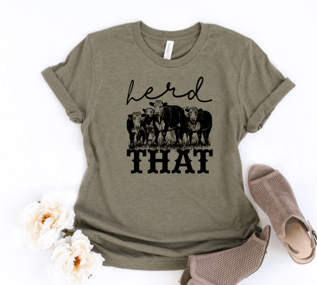 Herd That Cow Shirt , Herd That,  Cow Shirt , Animal Graphic Tee , Cows , Funny Animal Shirt - Funkyappareltees