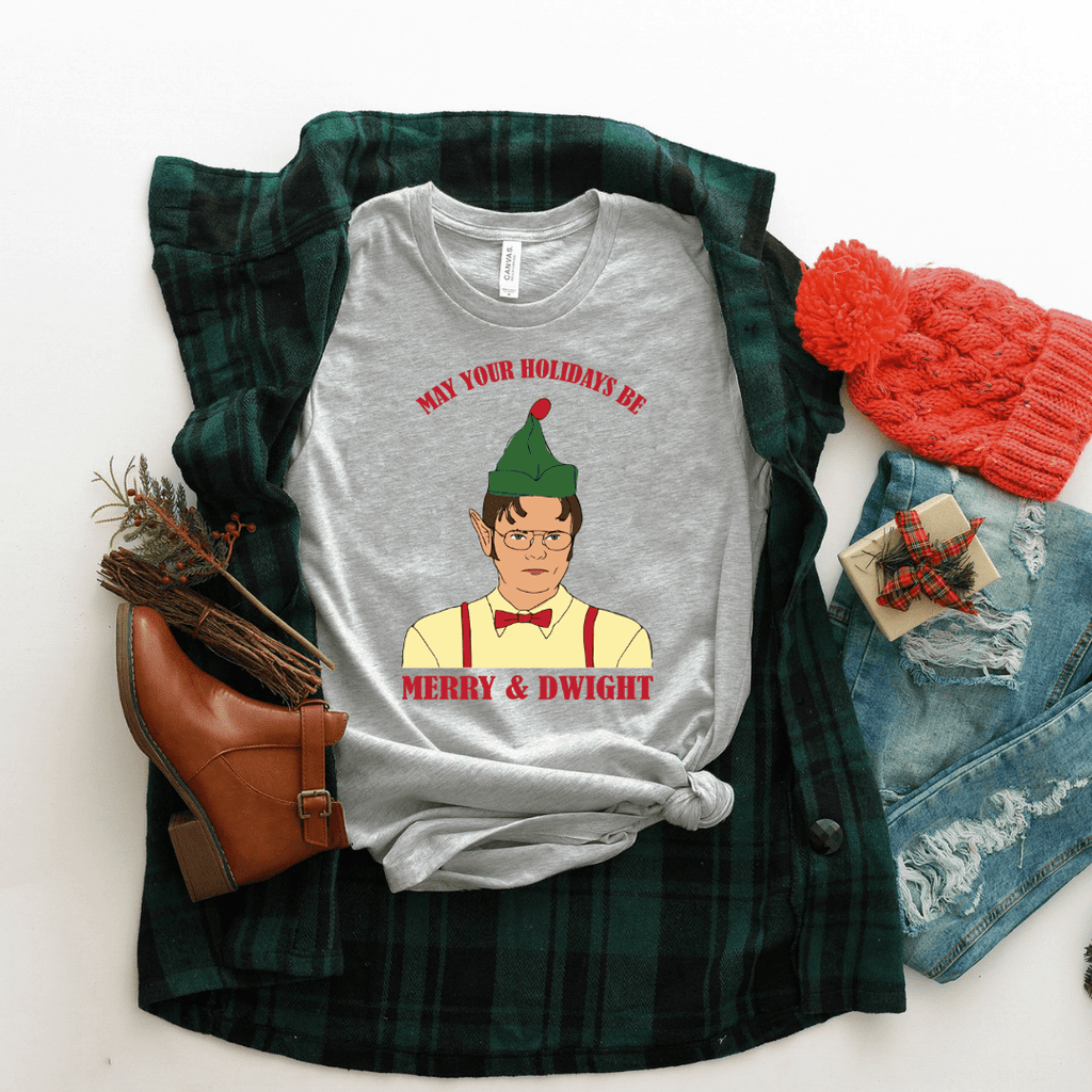 May Your Holidays Be Merry And Dwight Shirt - Funkyappareltees