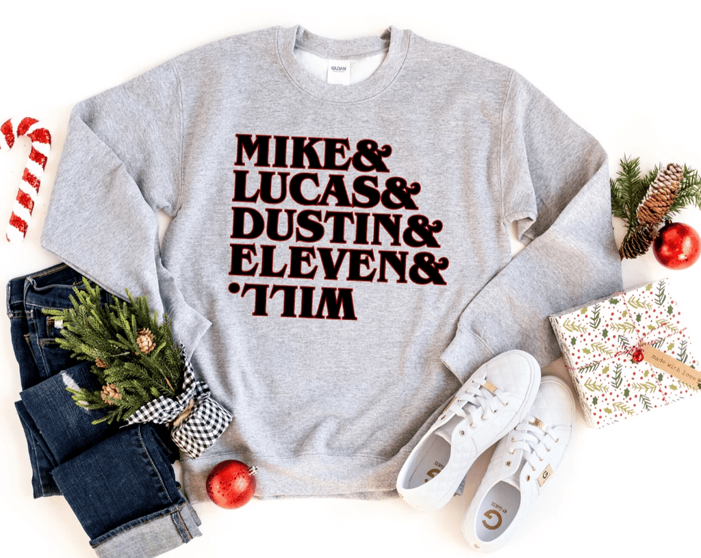 Mike Lucas Dustin, Stranger Things Inspired  Shirt Tee Top, Hawkins Shirt, The Upside Down T Shirt Tee Top, Eleven - Funkyappareltees