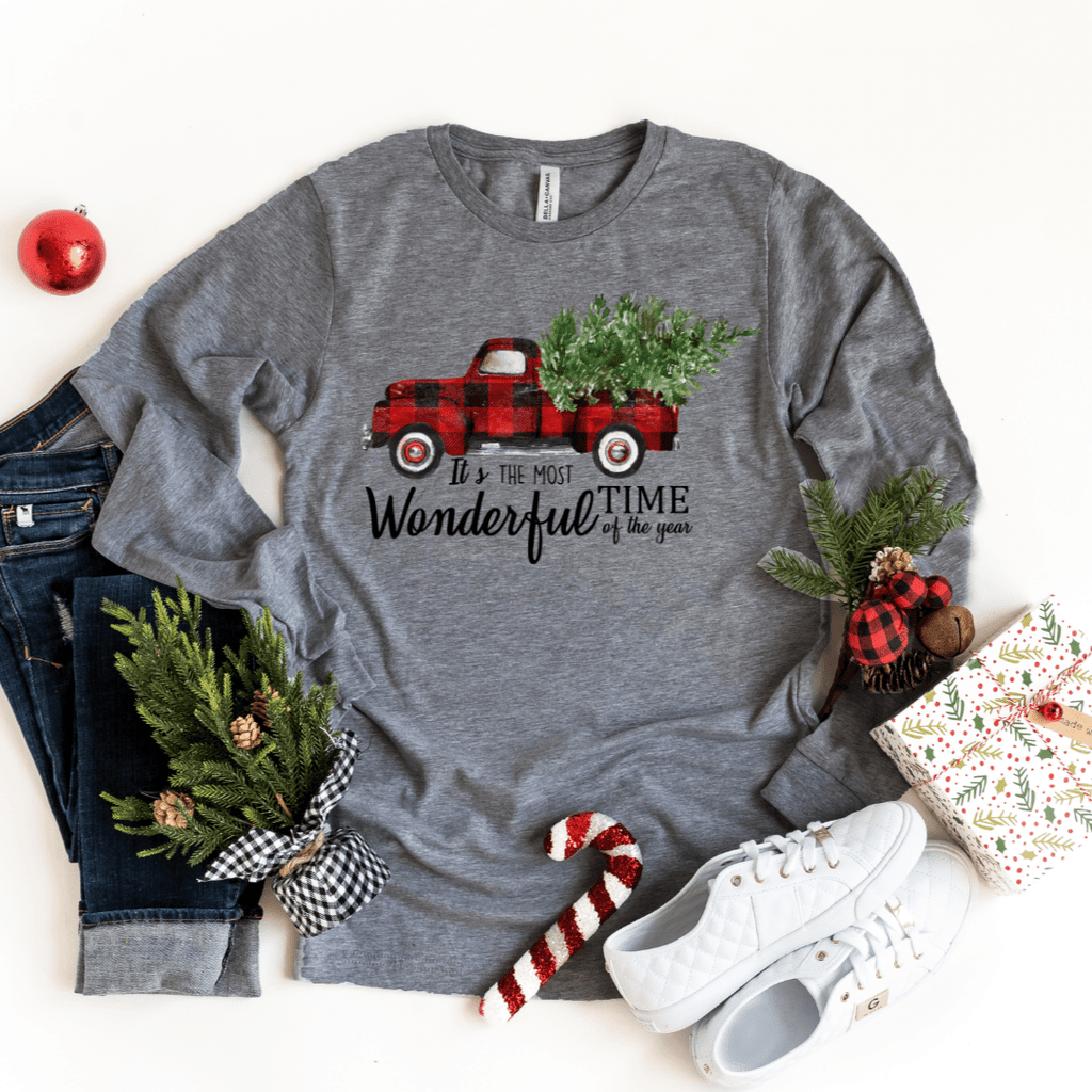 Christmas Shirts for Women, Christmas Truck Shirt, Christmas Shirts, Buffalo Plaid, Women's Christmas Shirt, Holiday Shirt, Christmas Shirts - Funkyappareltees