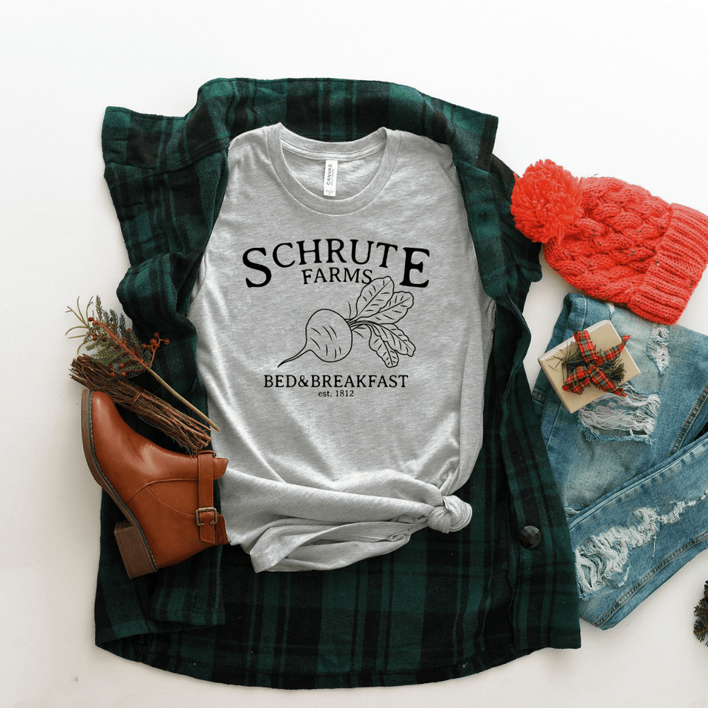 Schrute Farms T Shirt  The Office Black Design - Funkyappareltees