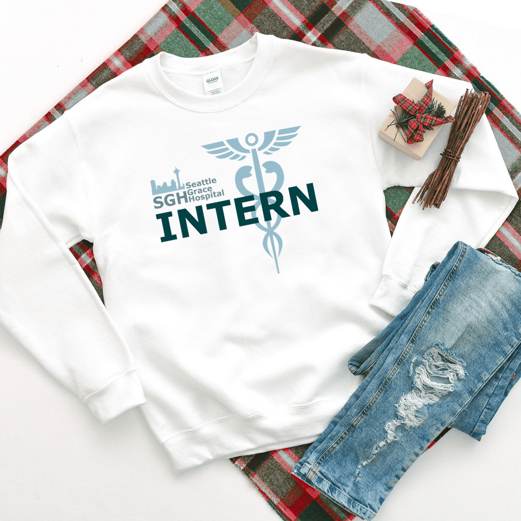 Seattle Grace Hospital Intern Sweatshirt - Funkyappareltees