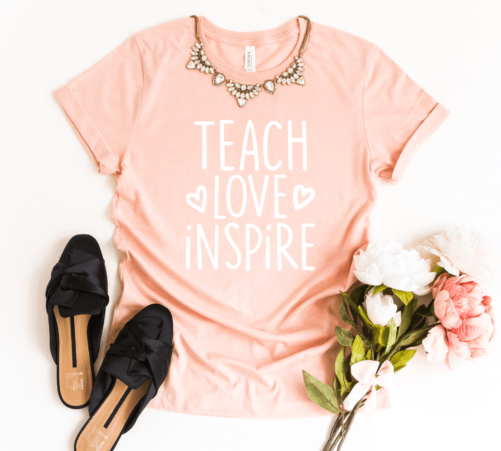 Teach Love Inspire Shirt, Teacher Gift, Teacher Shirt, Elementary School Teacher Shirt, Preschool Teacher - Funkyappareltees