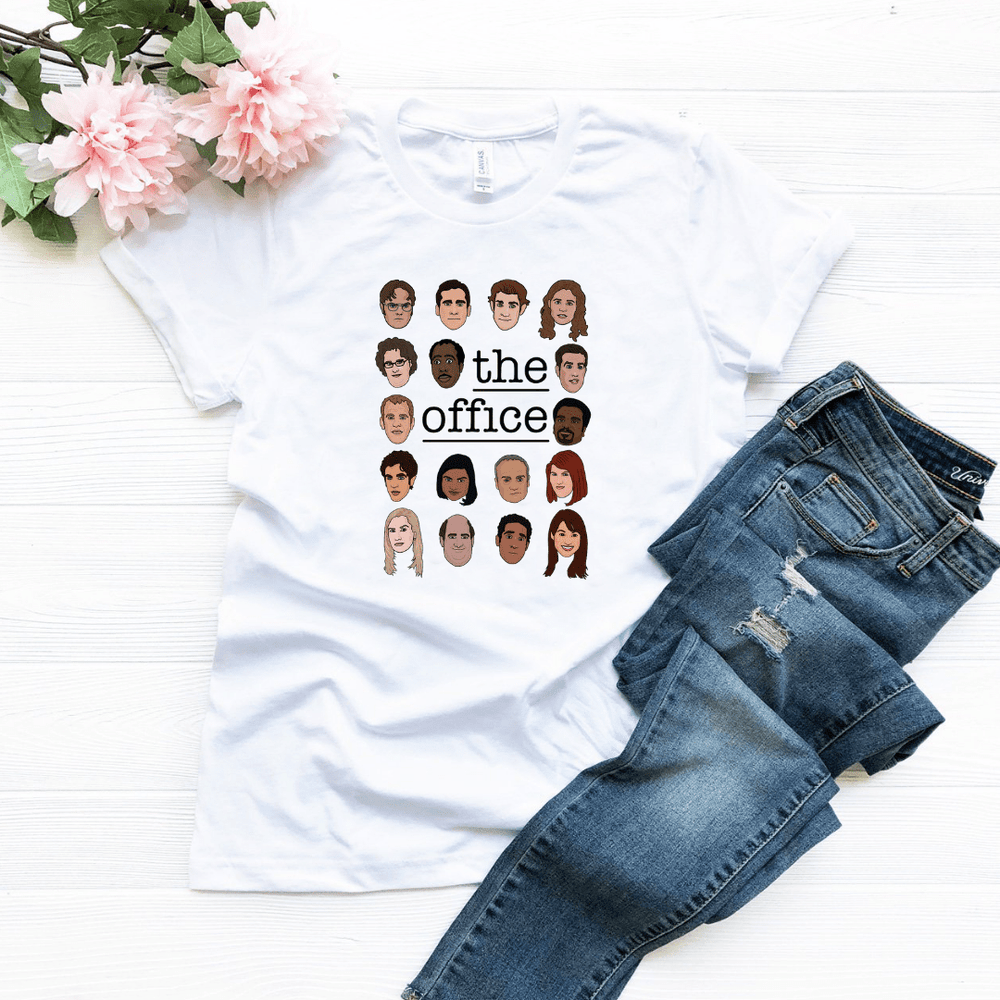 The Office Characters Illustration T Shirt