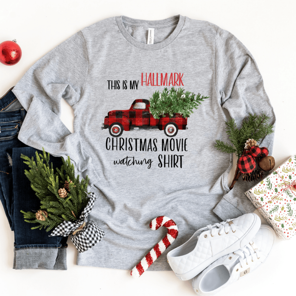 Hallmark Channel, This is my Hallmark Christmas movie watching shirt sweatshirt Sweater, Christmas Tree Shirt, Christmas Movies - Funkyappareltees
