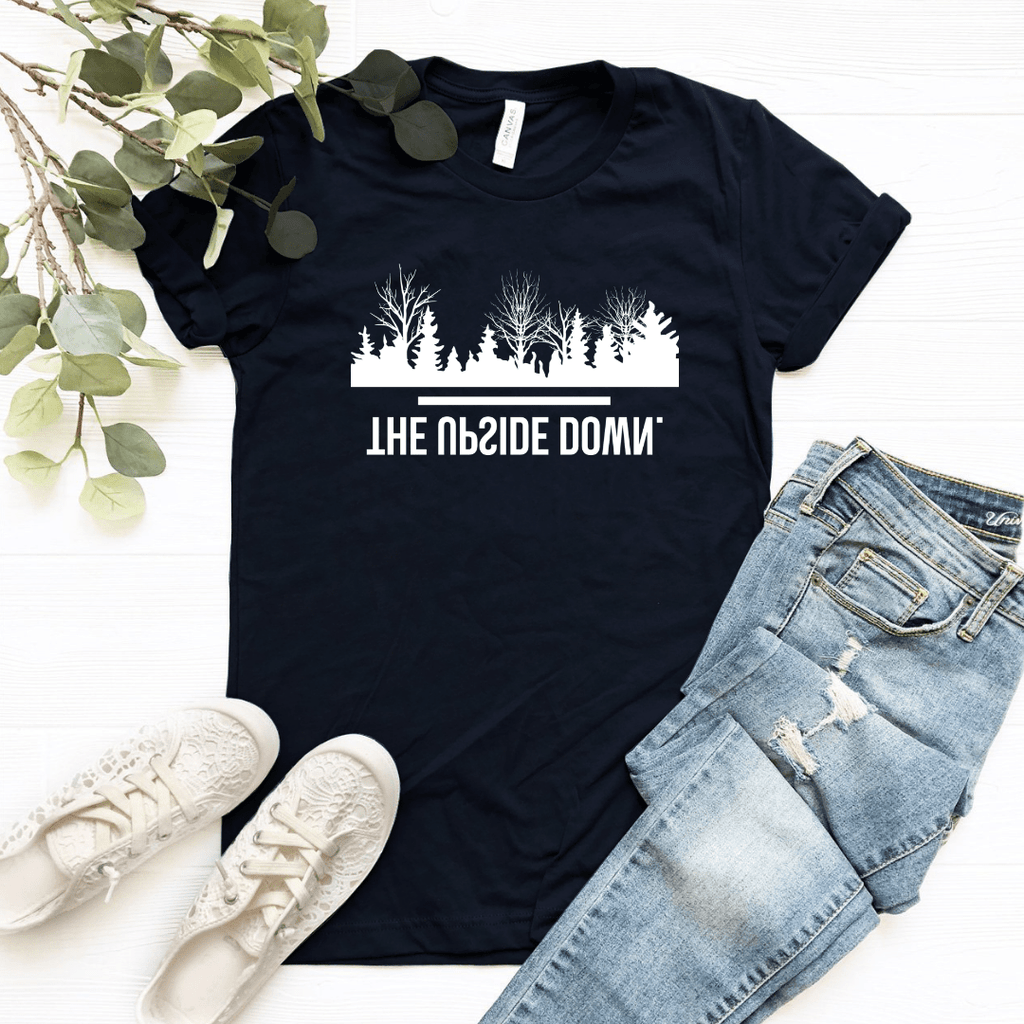 The Upside Down White Graphic Design - Funkyappareltees