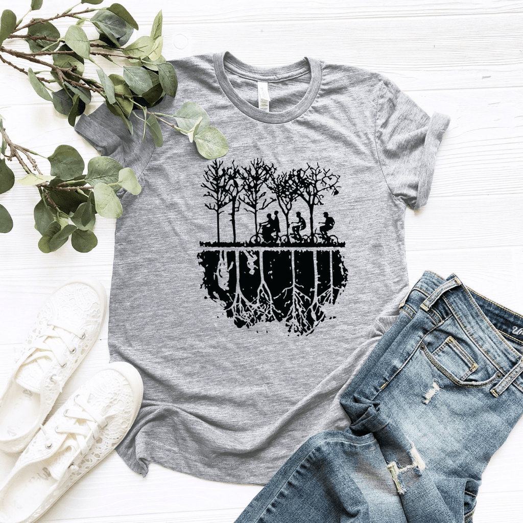 The Upside Down Large Graphic Women Relaxed T Shirt - Funkyappareltees