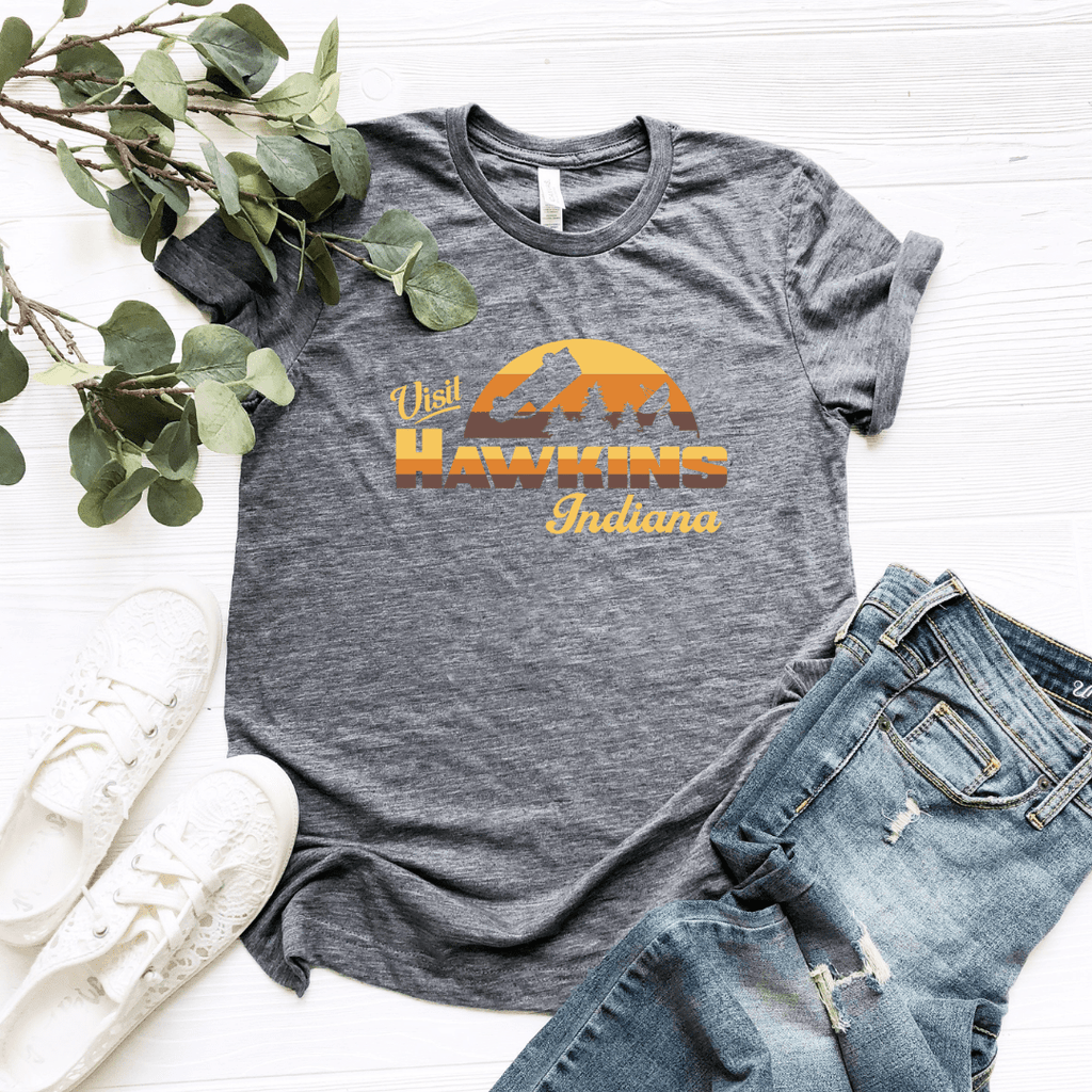 Visit Hawkins Indiana Women Relaxed T Shirt - Funkyappareltees
