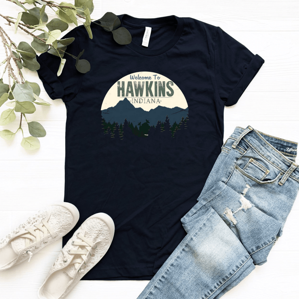 Welcome To Hawkins Graphic Women Relaxed T Shirt - Funkyappareltees