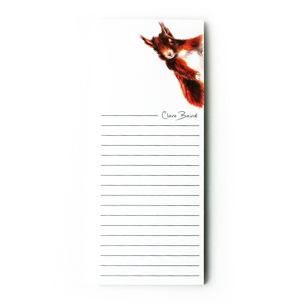 clare baird Red squirrel Magnetic memo pad