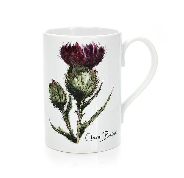 Clare Baird flower of Scotland mug