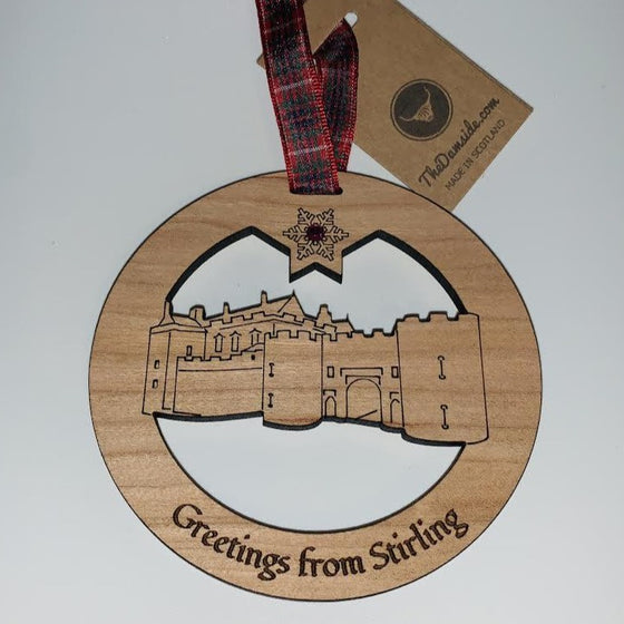 GREETINGS FROM STIRLING  BAUBLE : The damside