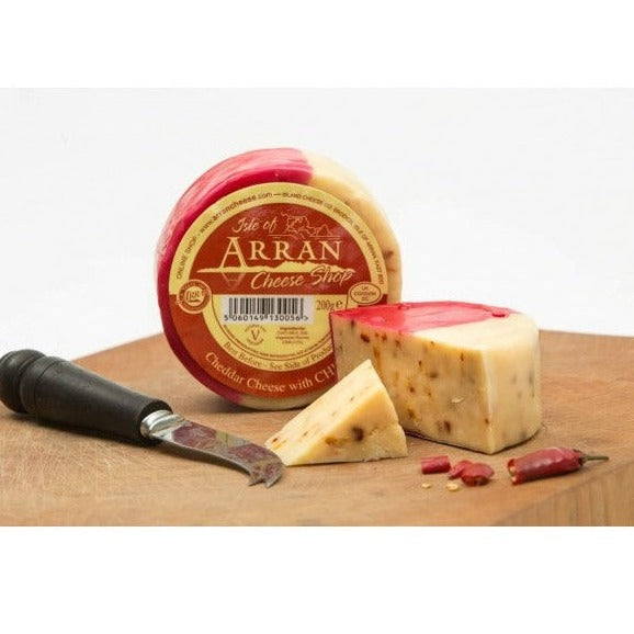 isle of Arran cheddar cheese with chilli