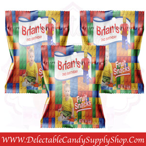 fruit snacks digital printed filled delectable candy party