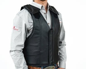Ride Right 1000 Series Saddle Bronc Vest - Leather Right Side