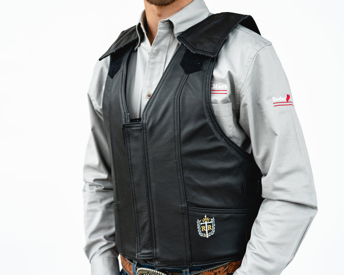Ride Right 1000 Series Saddle Bronc Vest - Black Leather
