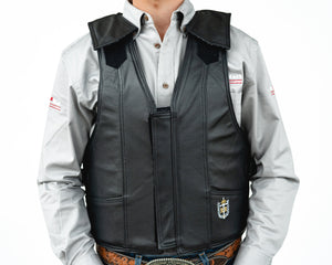 Ride Right 1000 Series Saddle Bronc Vest - Leather Front