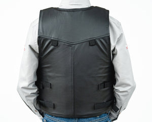 Ride Right 1000 Series Saddle Bronc Vest - Leather Back