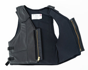 Ride Right 1000 Series Saddle Bronc Vest - Leather Open