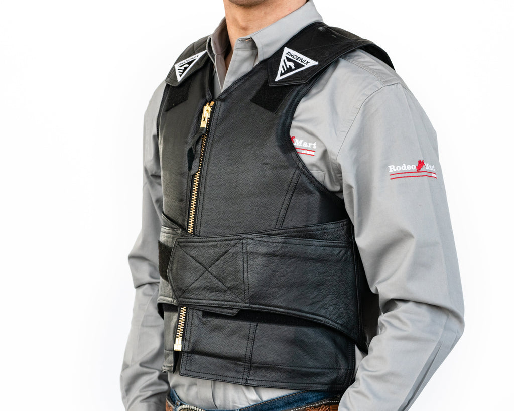1014 Phoenix Rough Rider Adult Rodeo Vest Left Side