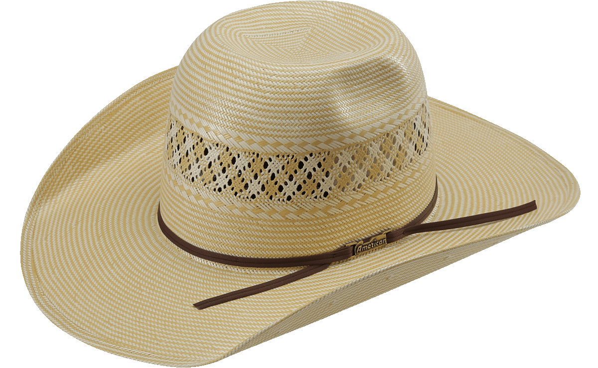 American Hat Co 1022 2X2 Two-Tone Vented Shantung Straw Hat - Tan – Rodeo  Mart 23f0477e2541