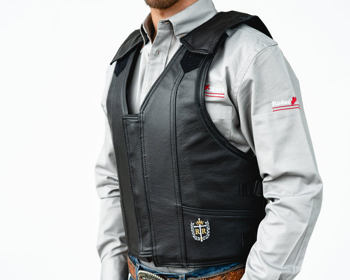 Ride Right 1100 Series Bareback Vest - Black Leather