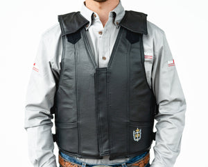 Ride Right 1100 Series Bareback Vest - Leather Front
