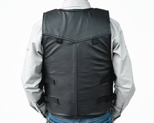 Ride Right 1100 Series Bareback Vest - Leather Back