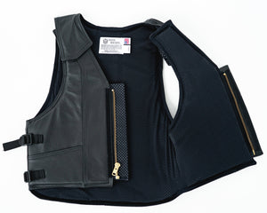 Ride Right 1100 Series Bareback Vest - Leather Back Open