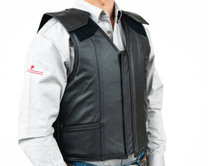 Ride Right 1200 Series Adult Rodeo Vest - Leather Right Side