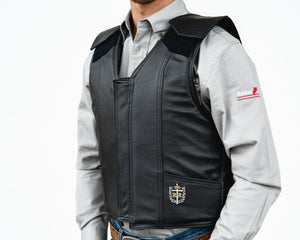 Ride Right 1200 Series Adult Rodeo Vest - Leather Left Side