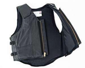 Ride Right 1200 Series Adult Rodeo Vest - Leather Open