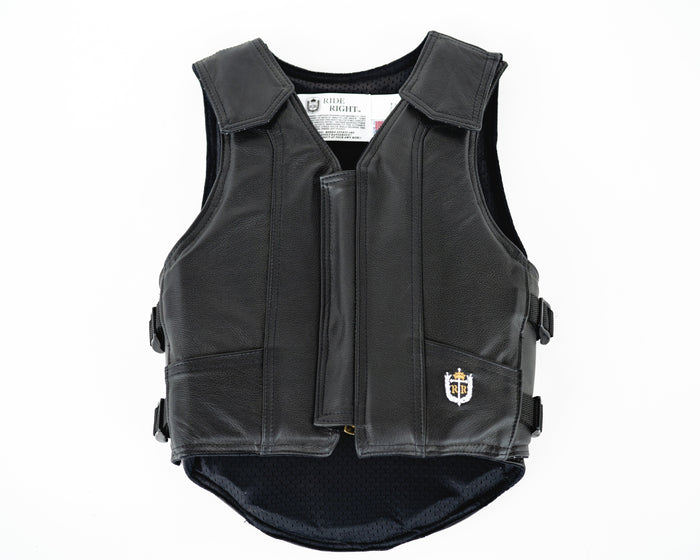 Ride Right 1200 Series Youth Rodeo Vest - Black Leather