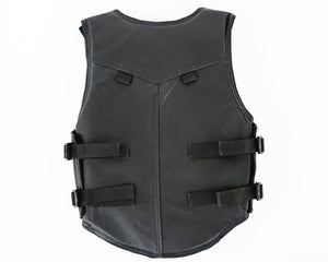 Ride Right 1200 Series Youth Rodeo Vest - Black Leather Back