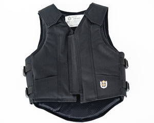 Ride Right 1200 Series Youth Rodeo Vest - Black Polyduct