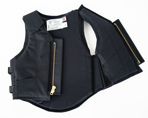 Ride Right 1200 Series Youth Rodeo Vest - Black Polyduct Open