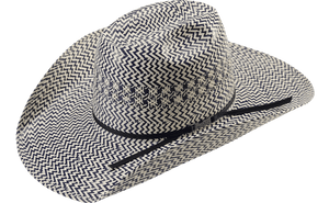 American Hat Co 2020 Fancy Vent Two-Tone Straw Hat - Blue/Ivory