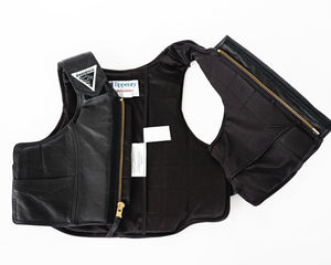2030 Phoenix Pro Max Youth Rodeo Vest in Leather Open