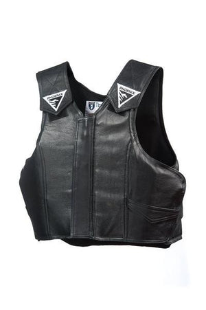Black Leather 2030 Phoenix Pro Max Youth Rodeo Vest
