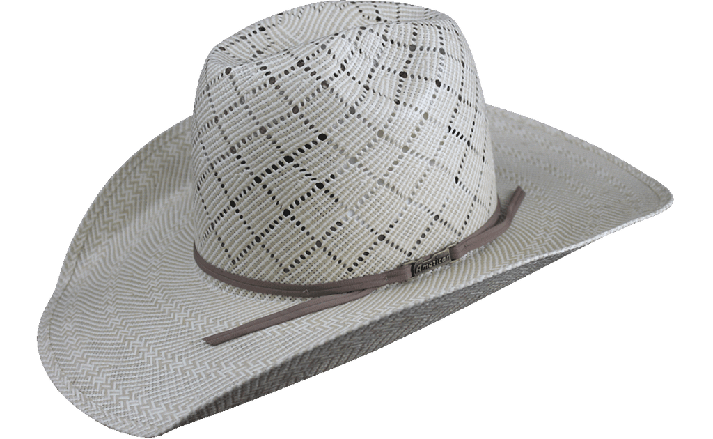American Hat Co 5050 Patchwork Crossbred Straw Hat - Tan