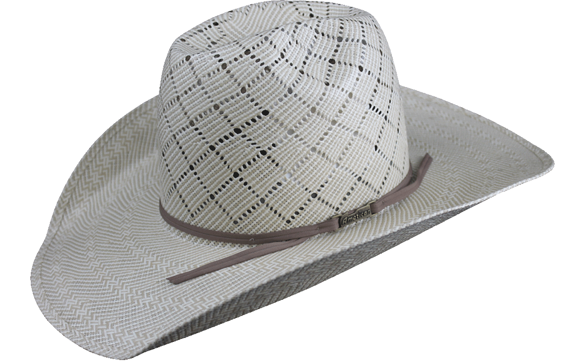 24f5106b932 American Hat Co 5050 Patchwork Crossbred Straw Hat - Tan – Rodeo Mart