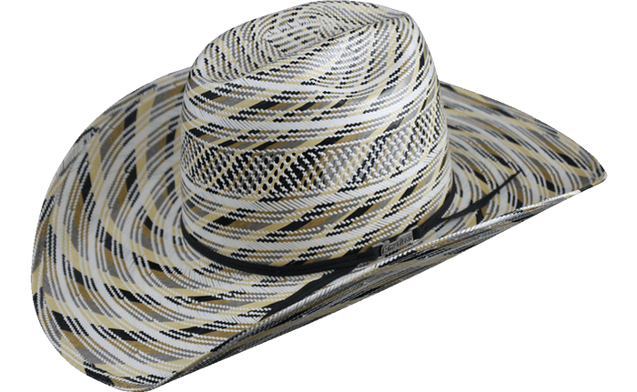 American Hat Co 5600 Fancy Vent Fancy Weave Straw Hat - Multi Color