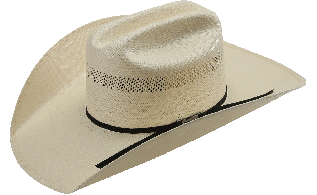 7bec17cca American Hat Co 7104 Vented Shantung Straw Hat - Clear Lacquer