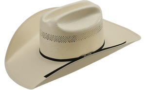 American Hat Co 20˜… Vented Shantung Straw Hat - Clear Lacquer