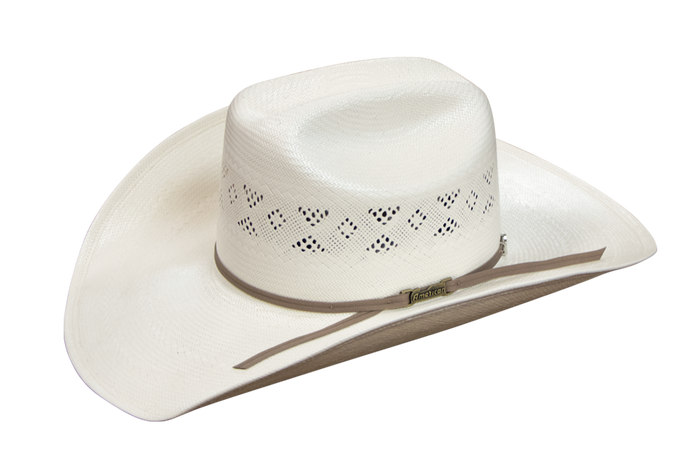 American Hat Co 8500 Fancy Vent Solid Weave Ivory